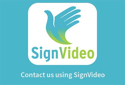 Call us with SignVideo